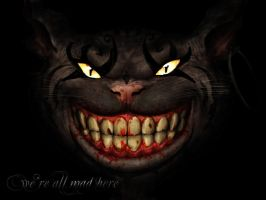 Cheshire Cat - Fade Away by MissMachineArt