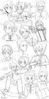 Aph sketches by Amphany