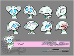 Expression Sheet - Pearl by OneWingArt
