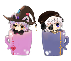 Chibis in a mug by Skyler-chan498