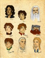 The Fellowship of the Ring icons by NeonDuctTape