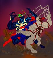Spidey vs Venom vs Anti-Venom by SpiderGuile