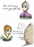 You can't marry a man you just met [Frozen] by DarikaArt