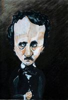 Edgar Allen Poe Caricature by slipknotcrow