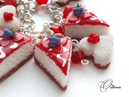 Bracelet Blackberry cake 3 by OrionaJewelry