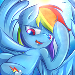 rainbow dash by kyodashiro
