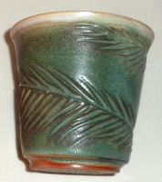Green Carved Fern Cup by ColoradoPotter
