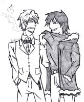 Shizuo and Izaya by Some-Lost-Melody
