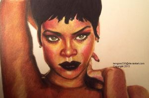 Rihanna   ~Colored Pencil by lemgras330