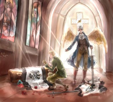 Aph: Germany  and Prussia -Brother... by Fenrin-kun