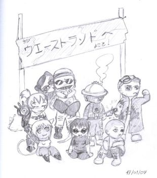 Wastelands Chibis by rotemu