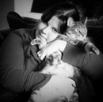 People and Their Pets:  Tricia and Fergs by pinknfuzzy4711