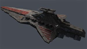 Venator battlecruiser by Supertrust