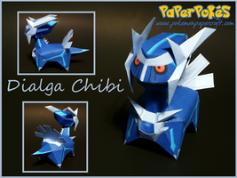 Chibi Dialga Papercraft by Skeleman