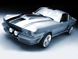 69 Shelby Mustang GT500E by AtlasMaximus