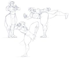 Chun-Li Sketches And Random Update by fatfoxlower