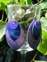 Etched Scale Earrings by BacktoEarthCreations