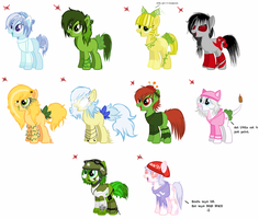.:ADOPTABLE-CLOSED:.Game themed pony adopts. by GhostlyTequila