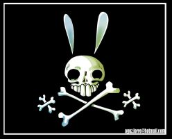 :original:Pirate Bunny Flag by AguZ