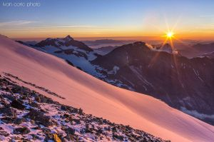Dawn under the peak of Grossglockner by ivancoric