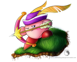 30 Day Kirby Challenge - 2 - Archer Kirby by CelestiaDragonKnight