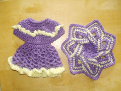 Purple and yellow Hot Pad  Dish Soap Bottle Cover by Kathskrafts