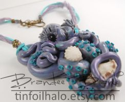 Lilac Octopi necklace / wall hanging by TinfoilHalo