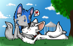 Com - thunder - kisses in the park by Rattus-Shannica