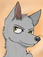 Wolf Headshot (first drawing with my new tablet!) by Bluebird9209