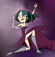 Total Drama - Gwen Lightning Power Magic (TDI) by KateDoof