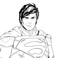 Superman line practice by zclark
