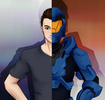 Commission - Get Your Game On (RvB) by Diamondsnake