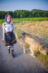 .: Summer Walk with a Wolfhound :. by Frank-Beer