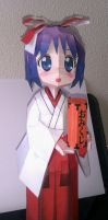 Miko!Tsukasa Hiiragi papercraft by me~Big!! by LadyEdile