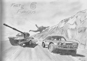 Fast and Furious 6 by Zeevar