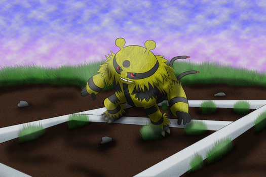 Commission 5/6: Electivire On a Plot of Land by OneLoveDrew