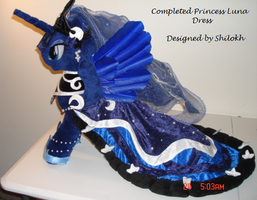 Completed Princess Luna Dress by Drachefrau