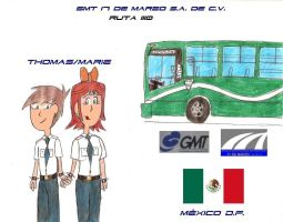 Thomas And Marie GMT Bus by KimiBarHonda