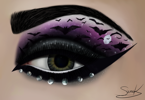 Bat eye makeup by Suna004