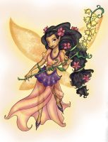 Disney fairies : Fira white bg by Lumosita