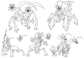 various insect creatures by jimmymcwicked