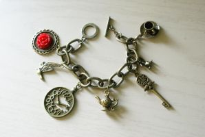 Pieces of Wonderland Bracelet by foowahu-etsy