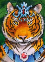 Tiger God ACEO by AokiBengal