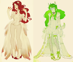 homestuck: aradia and Jade sprite by animegirl000
