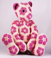 Lollo the African Flower Hexagon Teddy Bear by HeidiBears