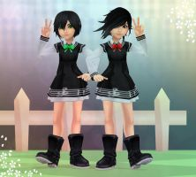 Cola and Izzy Sailor Dresses + Base DL by KohakuUme6