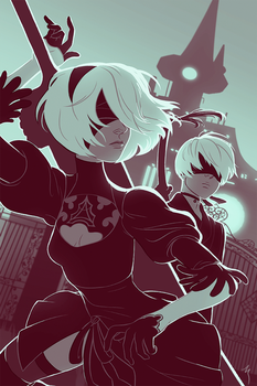 2b and 9s go 2 the amusement park by soularch