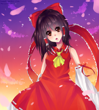 Reimu - Collab by Sunny-Winter-Star
