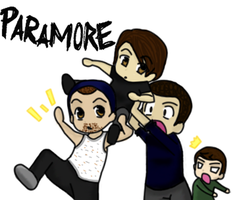 The Guys of Paramore Chibis by Xcas92X