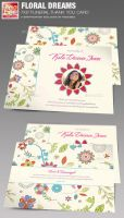 Floral Dreams Funeral Thank You Card by loswl